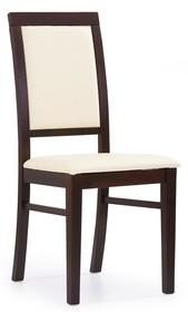 Krzesło SYLWEK 1 - ciemny orzech/Cayenne 1112