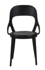 MODESTO krzesło FORM czarne - polipropylen