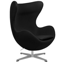 Fotel EGG CLASSIC wełna - czarny