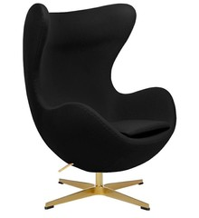 Fotel EGG CLASSIC GOLD - czarny