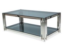 Ława FOSSIL A 120x60 - srebrny/szkło dymione