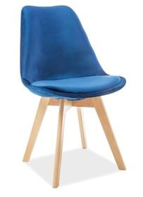 Krzesło DIOR velvet buk - granatowy