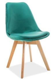 Krzesło DIOR velvet buk - zielony