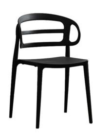 MODESTO krzesło MARCUS czarne - polipropylen