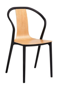 Krzesło VINCENT - naturalny/czarny