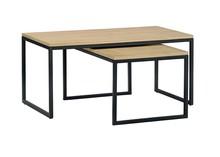 Zestaw stolików LOFT MEDIUM - dąb