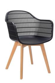 Krzesło BASKET ARM WOOD - czarny