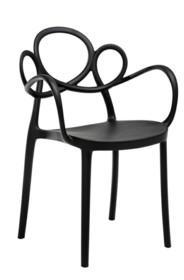 Krzesło LOOPY ARM - czarny