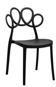 Krzesło LOOPY - czarny