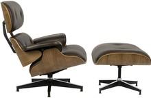 Fotel LOUNGE HM PREMIUM SZEROKI z podnóżkiem - brązowy/orzech