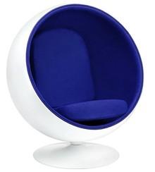 Fotel BALL - biały/niebieski