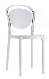 Krzesło CARMEN 2 - biały/transparentny