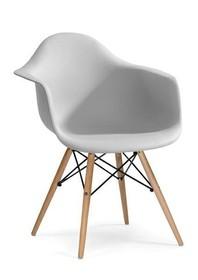 Fotel DAW - jasny szary