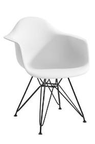 Fotel DAR BLACK - biały