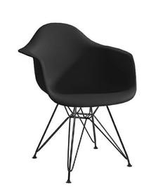 Fotel DAR BLACK - czarny