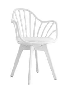Fotel ALBERT ARM - biały