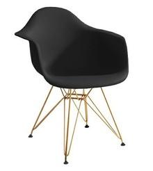 Fotel DAR GOLD czarny.03 - polipropylen, podstawa złota