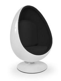 Fotel OVALIA - biały/czarny