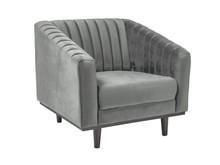 Fotel ASPREY 1 velvet - szary Bluvel 14