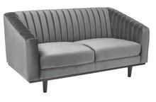 Sofa ASPREY 2 VELVET - szary Bluvel 14