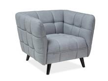 Fotel CASTELLO 1 - jasny szary Lira 09