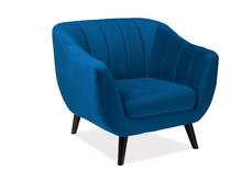Fotel ELITE 1 velvet - granatowy Bluvel 86