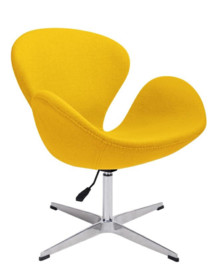 Fotel SWAN UP - żółty