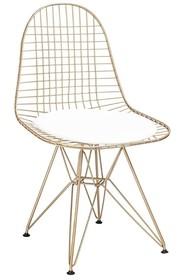 Krzesło DSR NET ROSE GOLD - różowe złoto/biały