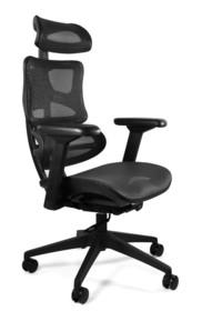 Fotel biurowy ERGOTECH - czarny