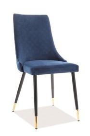 Krzesło PIANO VELVET - granatowy Bluvel 86