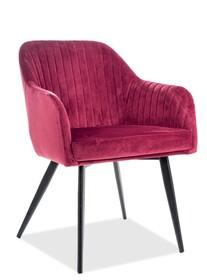 Krzesło ELINA Velvet - bordowy
