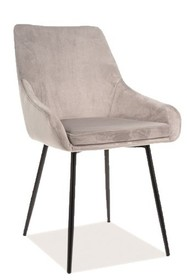 Krzesło ALBI VELVET - jasny szary