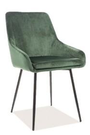 Krzesło ALBI VELVET - zielony