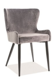 Krzesło PASSO II VELVET - szary