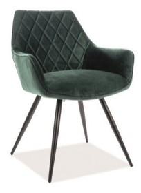 Krzesło LINEA VELVET - zielony Bluvel 78