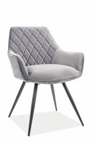 Krzesło LINEA VELVET - szary Bluvel 14