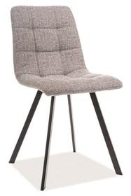 Krzesło tapicerowane CLIP - szary