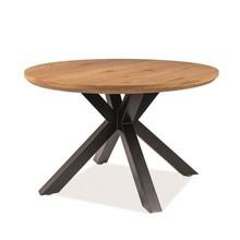 Stół RITMO 120 - dąb/czarny