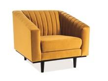 Fotel ASPREY 1 velvet - żółty Bluvel 68