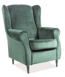 Fotel BARON velvet - zielony Bluvel 78