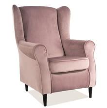 Fotel BARON velvet - antyczny róż Bluvel 52