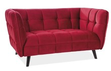 Sofa CASTELLO 2 VELVET - bordowy Bluvel 59