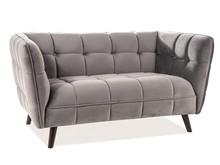Sofa CASTELLO 2 VELVET - szary Bluvel 14