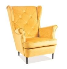 Fotel LADY VELVET- żółty Bluvel 68