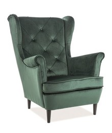 Fotel LADY VELVET- zielony Bluvel 78
