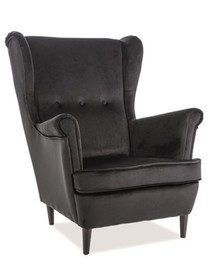 Fotel LORD velvet - czarny Bluvel 19