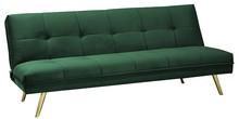 Sofa MORITZ VELVET - zielony/złoty