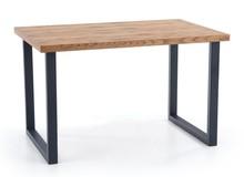 Stół rozkładany HORUS 126x80 - jasny dąb/czarny