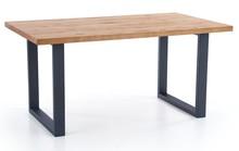 Stół rozkładany PEREZ 160x90 - jasny dąb/czarny