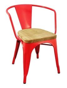 Krzesło TOWER ARM WOOD czerwone - metal
